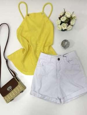 lavinnystore.com.br blusa linho amarela