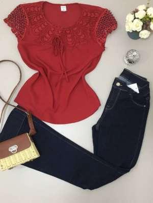 lavinnystore.com.br blusa renda e perolas vermelha
