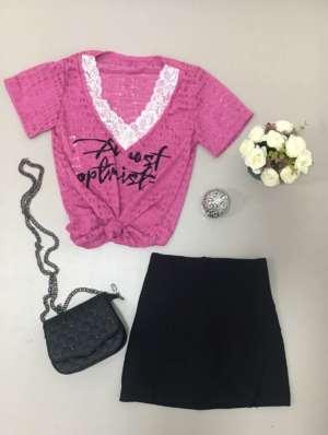 lavinnystore.com.br t shirt renda e transparencia pink