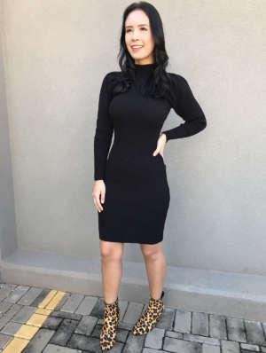 lavinnystore.com.br vestido midi manga princesa preto