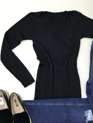 lavinnystore.com.br blusa tricot decote v preta 9