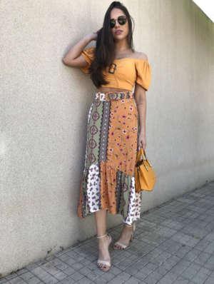 lavinnystore.com.br vestido midi babados fivela laranja 6