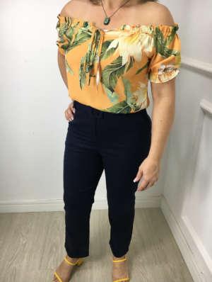 lavinnystore.com.br blusa ciganinha manguinha floral laranja