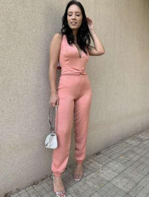 lavinnystore.com.br macacao longo jogger decote v rosa cha 4