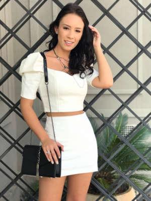 lavinnystore.com.br t shirt tricot lurex manguinha princesa preta