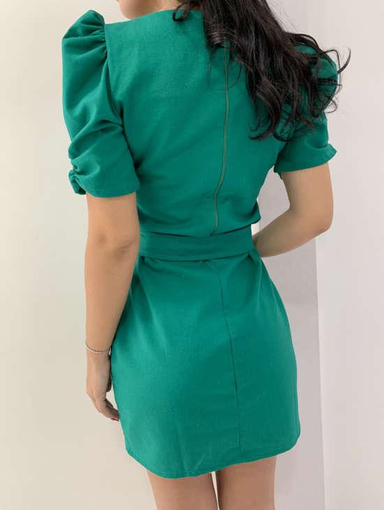 lavinnystore.com.br conjunto manguinha princesa geometrico verde menta 1