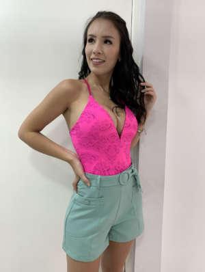 lavinnystore.com.br short saia neoprene fendas cinto fivela pink 8