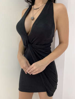 lavinnystore vestido longo lurex decote cruzado fenda abertura preto 8
